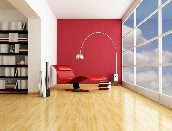 Foto van een modern ingerichte kamer