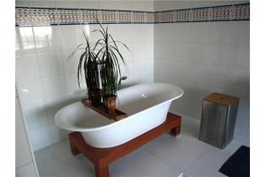 Voorbeeldfoto 4 van een foute Fundafoto. Planten in de badkuip, waarom ook niet.
