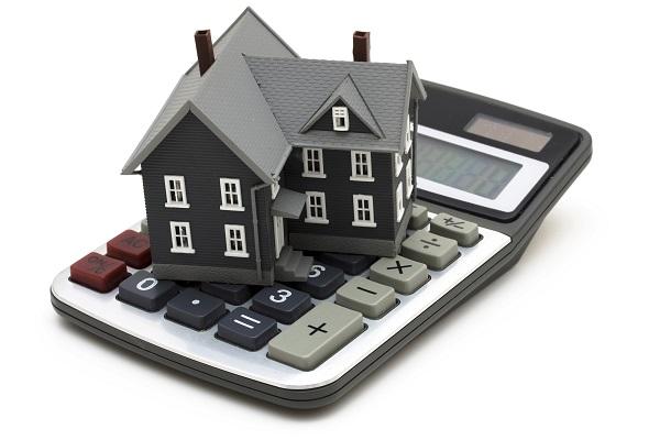 Afbeelding van een rekenmachine met een huisje erop.