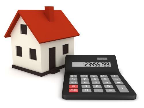 Afbeelding van een huisje en een rekenmachine.
