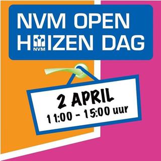 Afbeeldingen met daarop: NVM Open Huizen Dag 2 april 11:00 - 15:00 uur